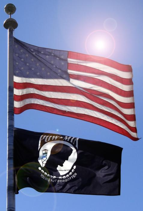 USA FLAG-POW MIA FLAG