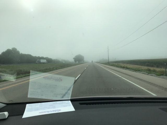 Highway driving in the fog