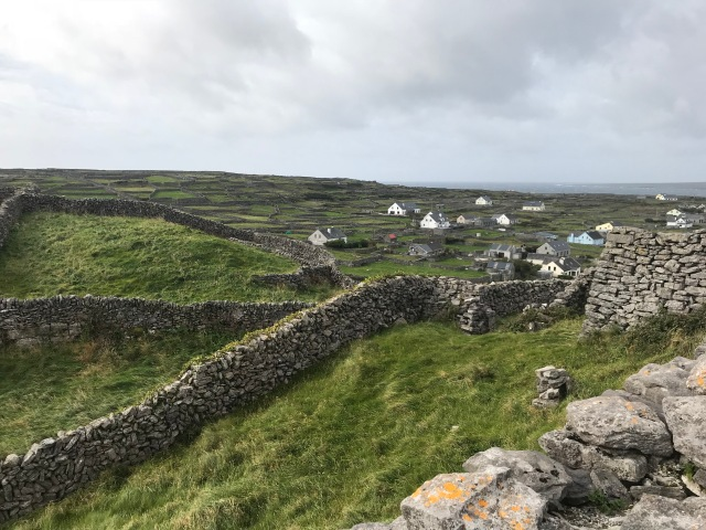 Stone walls on the Aran Islands, Ireland